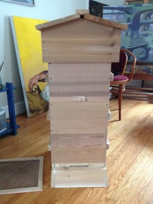 The completed modified Warré hive, from Sweet Valley Hives
